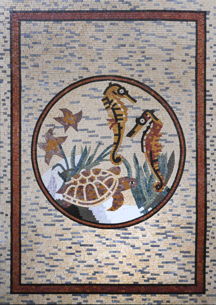 Pool Mosaic Design - Warm Sea Design