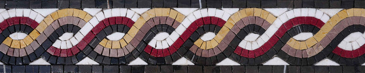 Geometric Mosaic Border - The Rope III