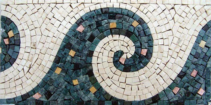 Mosaic Tile Pattern - Wave