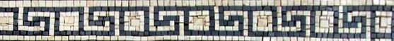 Marble Border Greek Keys Mosaic Art