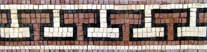 Geometric Mosaic Frieze - The Flintstones