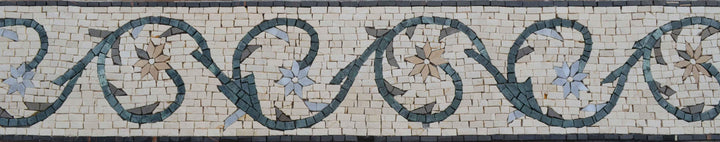 Floral Marble Mosaic Border