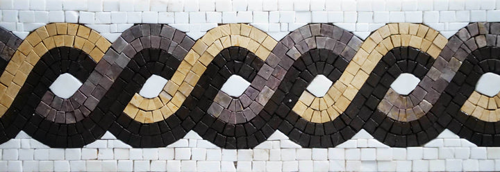 Geometric Mosaic Border - The Rope V