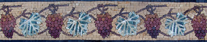 Grape Vine Mosaic Border