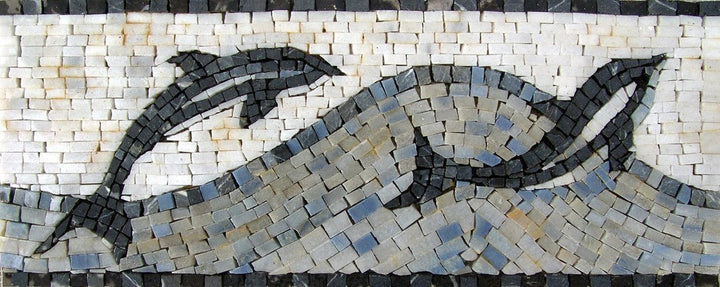 Nautical Mosaic Border Art