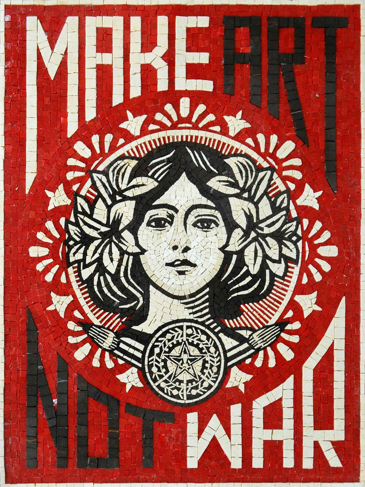 Make Art Not War Mosaic Poster