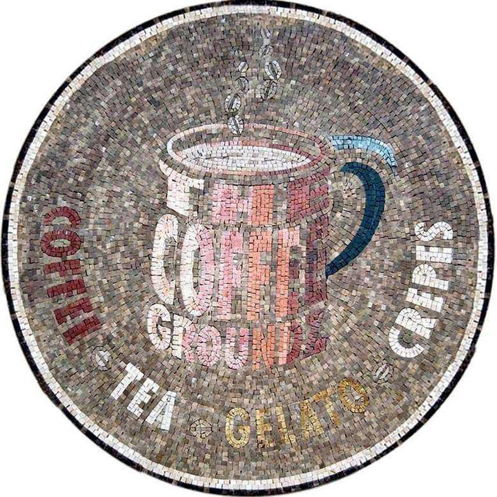 Coffee Shop Mosaic Logo
