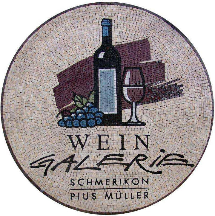 Wine Shop Logo Mosaic