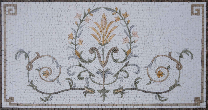 Embroidered Stones- Floral Mosaic Pattern