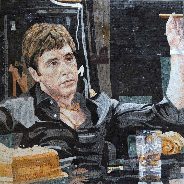 "Montana Scarface"" - Mosaic Art Reproduction"""