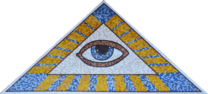 Mosaic Designs - Evil Eye Triangle