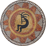 Kokopelli Mosaic Art Reproduction