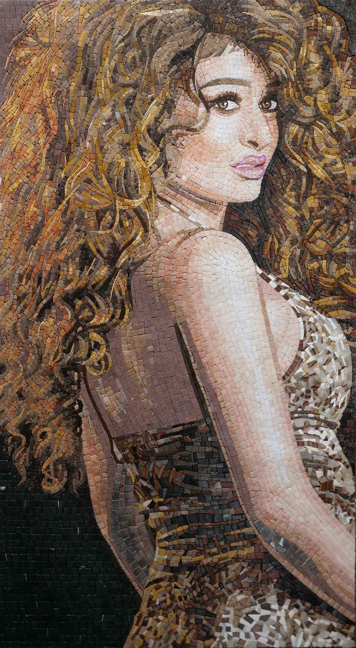 Curves and Curls- Custom Portrait Mosaic Art