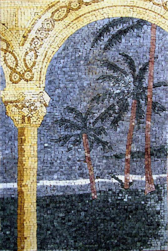 Mosaic Wall Art - Palm Arch