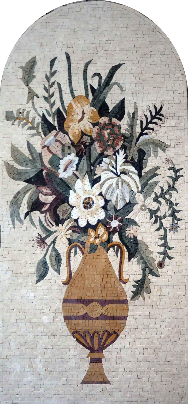 Mosaic Artwork - Bright Bouquet