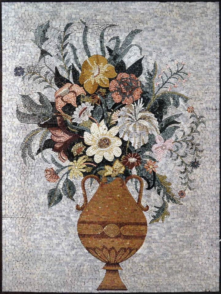 Mosaic Artwork - Bouquet of Beauty