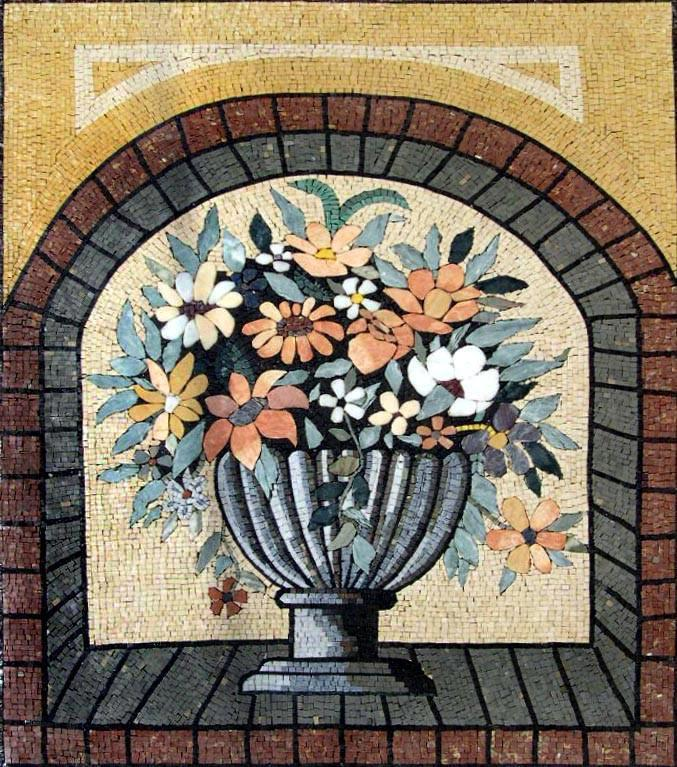 Mosaic Wall Art - Urn Of Bloom