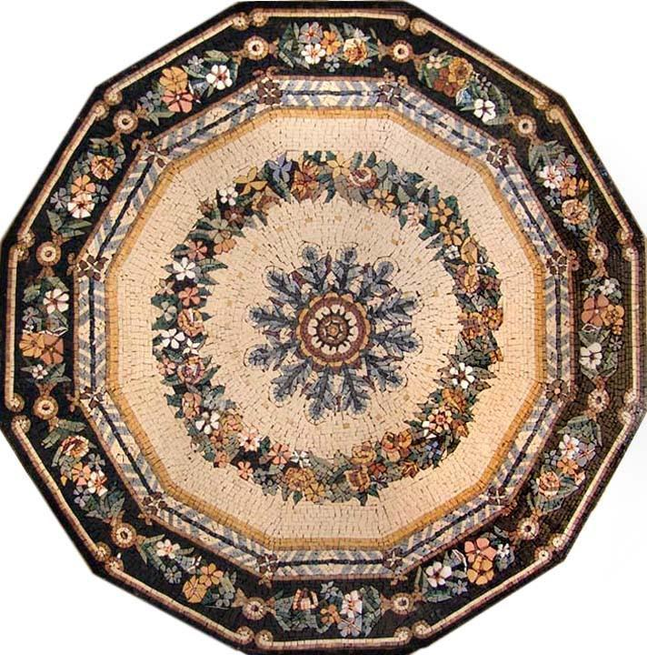 Polygon Flower Marble Mosaic - Anthia
