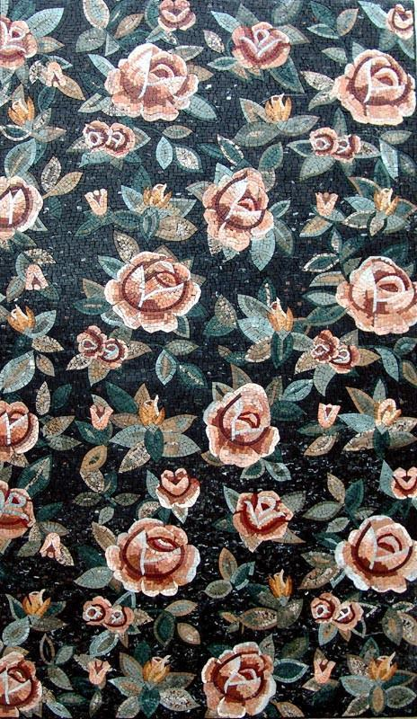 Mosaic Tile Patterns - Floral Rosal