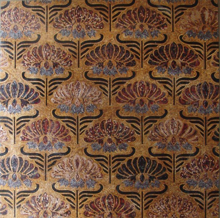 Latice Pattern Geometric Mosaic Wallpaper