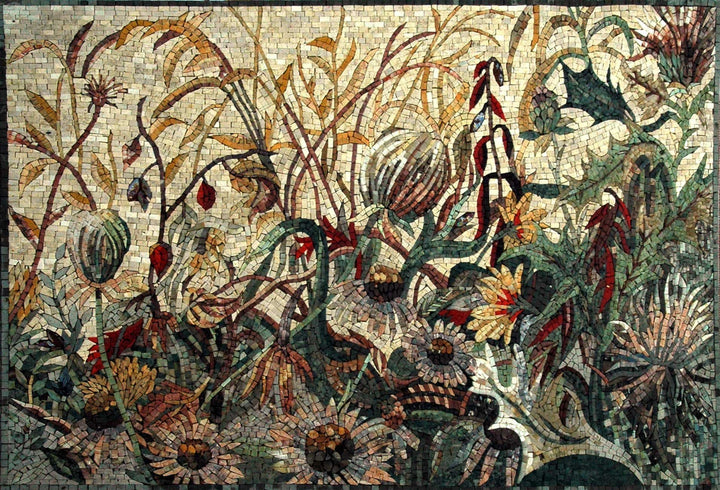 Mosaic Tile Patterns - Wild Flowers