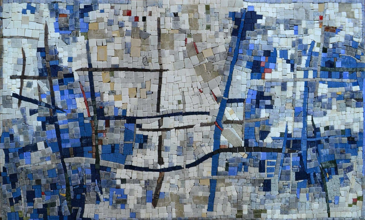 Abstract Mosaic Art - The Cycle of Water