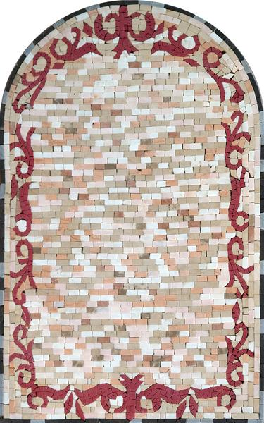 Arched Marble Mosaic Panel - Sarai