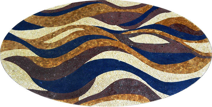 Oval Waves Stone Wallpaper Mosaic