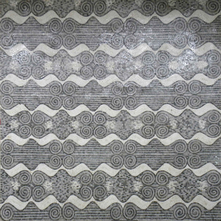 Abstract Mosaic Monochrome Geometric Pattern