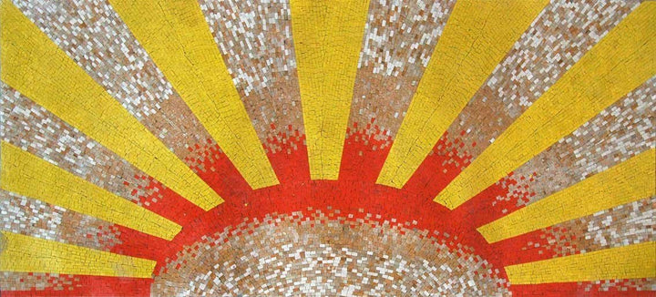 Sunburst Mosaic Decorative Art