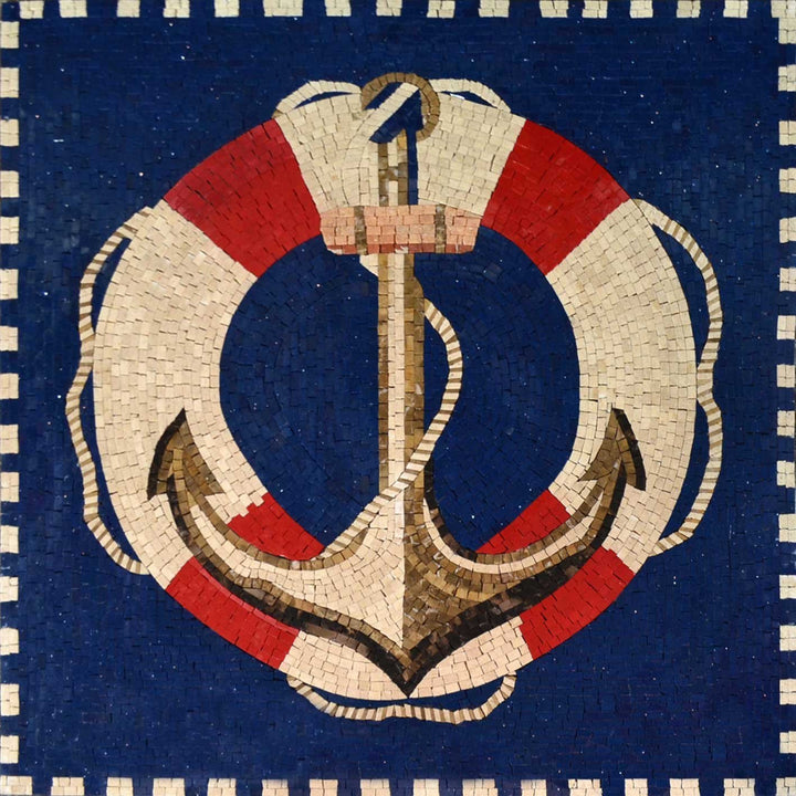 Anchor and Rescue Float Ring Mosaic