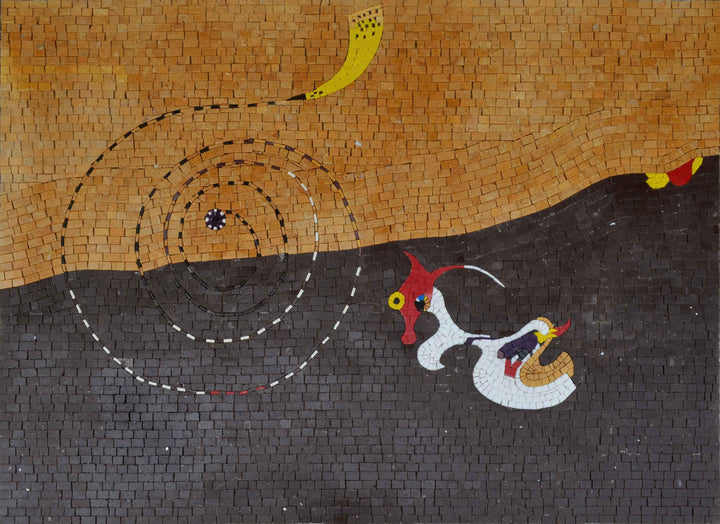 Landscape (The Hare) by Joan Miro Mosaic Reproduction