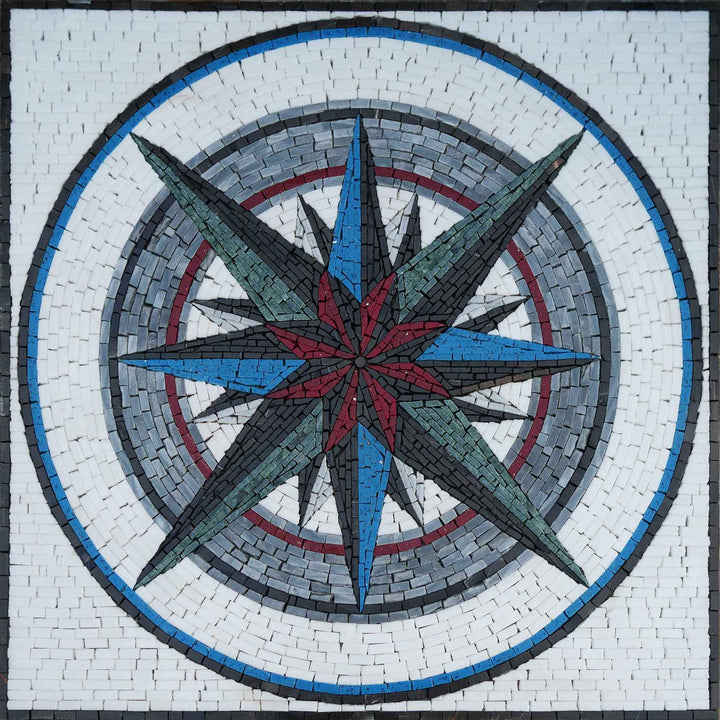 Everywhere Compass- Mosaic Medallion Art