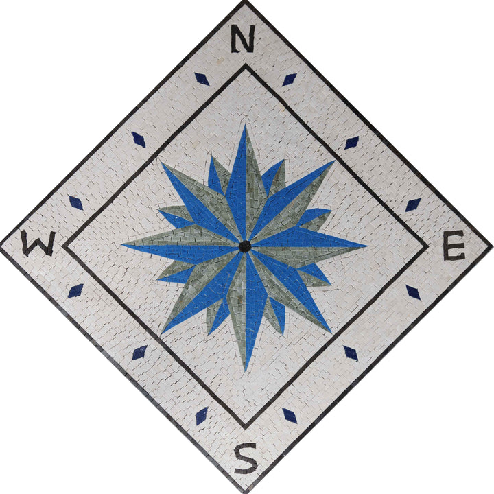 Compass Marble Design - Diamond Direction