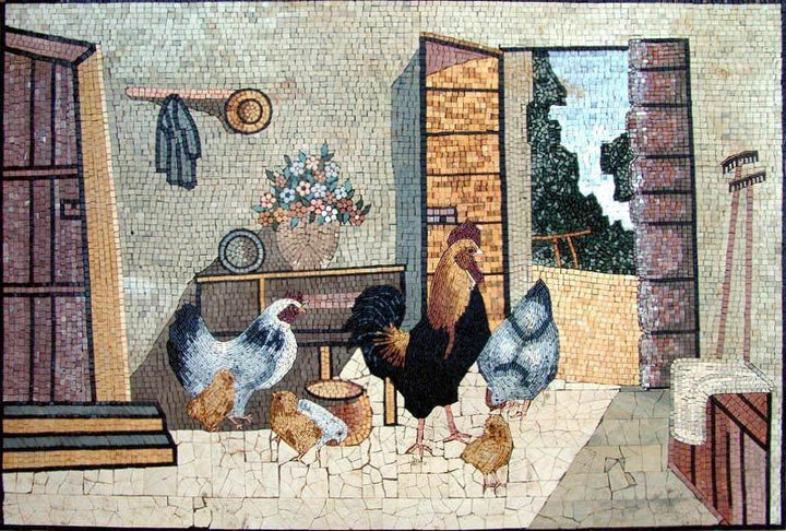 Mosaic Designs- Pollo e gallo
