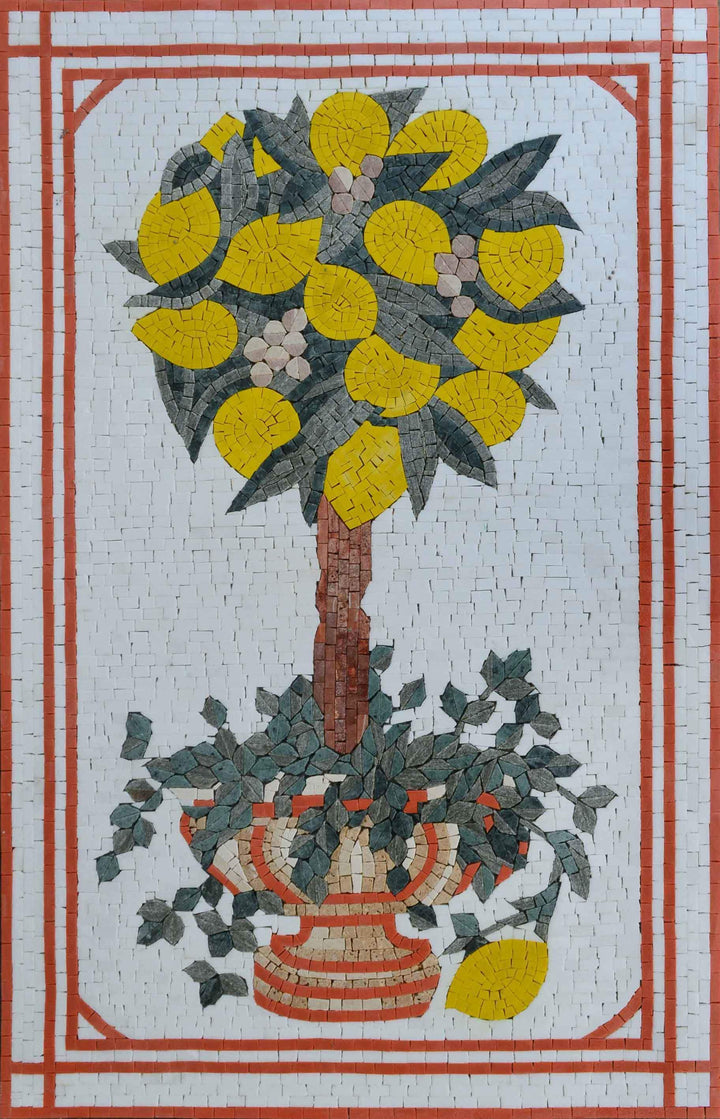 Mosaic Wall Art - The Lemon Tree
