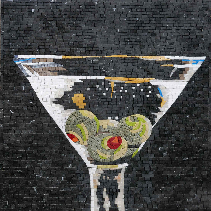 Dirty Martini  Custom Mosaic Art