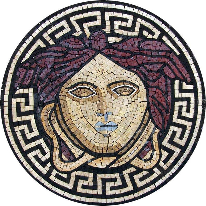 Medusa Mosaic Illustrative Art