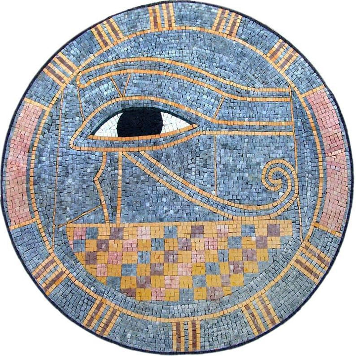 "Egyptian Medallion Pattern The Eye of Horus"""" Mosaic"