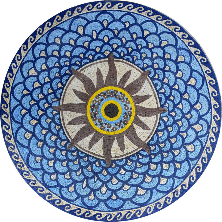 Mosaic Medallion - Sunshine Blues