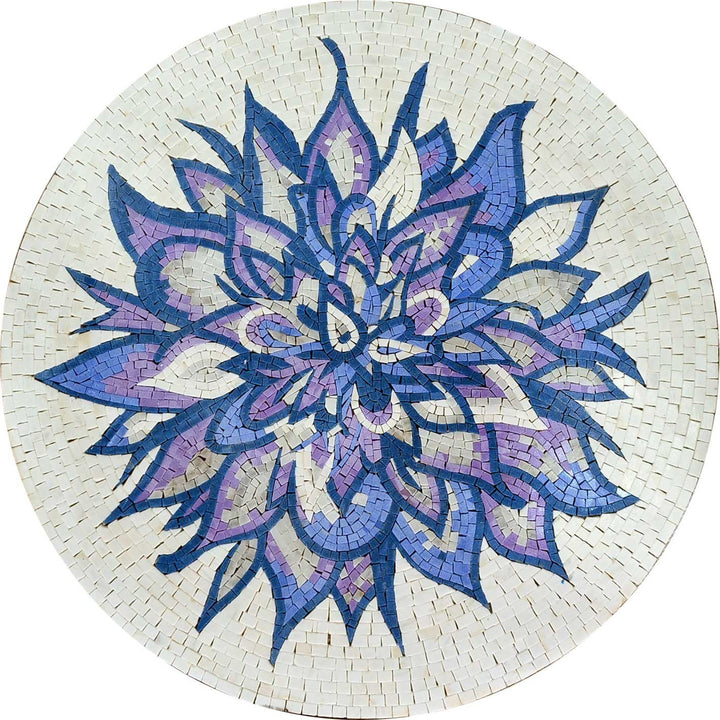 Medallion Mosaic Art - Purple Petals