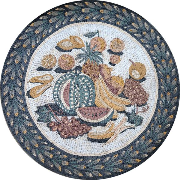 Pietradura- Fruit Mosaic Medallion