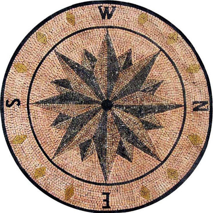 Medallion Mosaic - Wind Rose