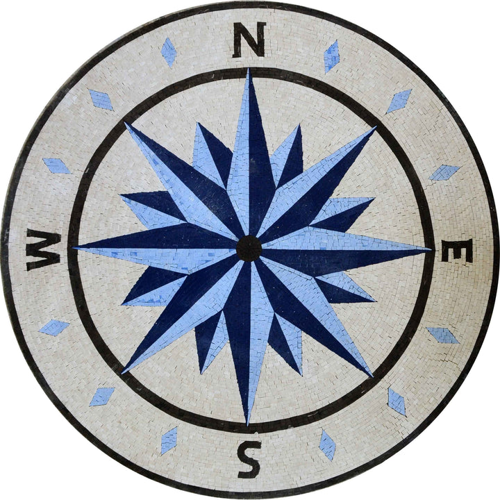 Mosaic Medallion - The Windrose