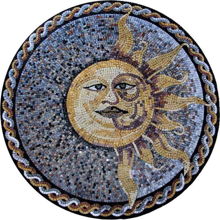 Multi-Colored Sun Mosaic - Soleil