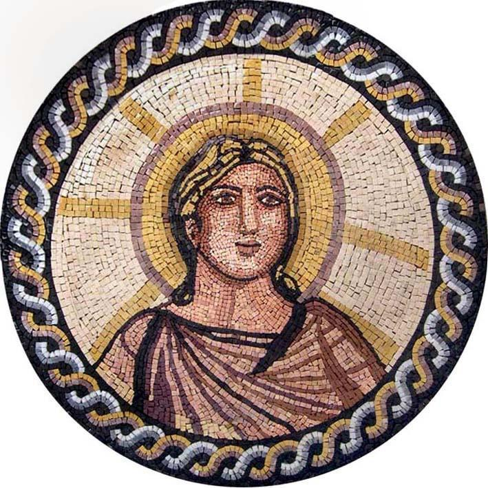 Greek Figure Mosaic Medallion