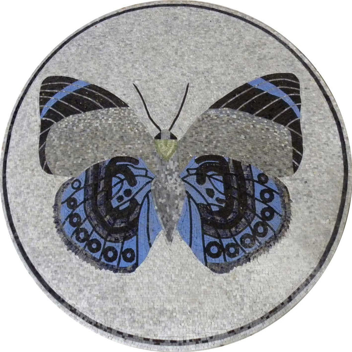 Mosaic Medallion - The Blue Butterfly