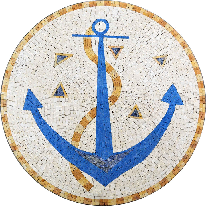 Blue Anchor Nautical Mosaic - Taavi