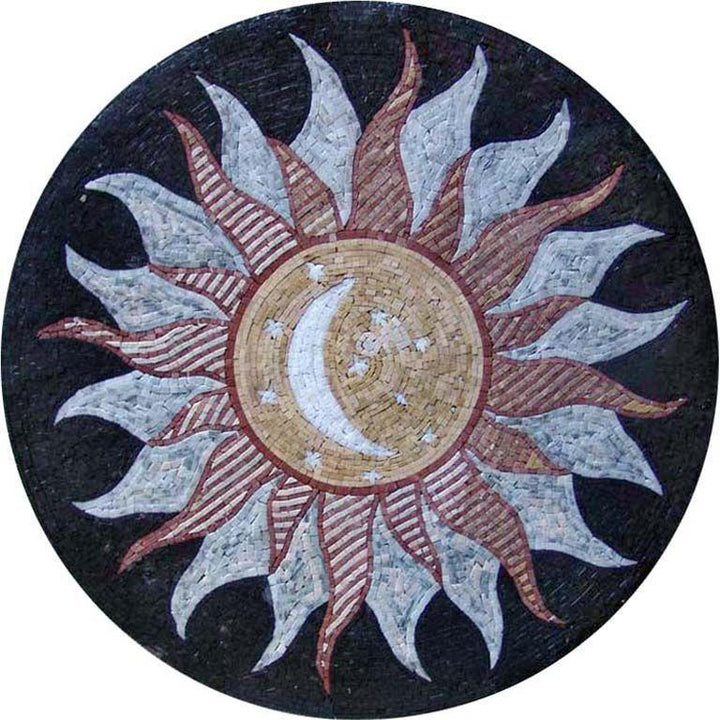 Moon Medallion Mosaic Art - Najm