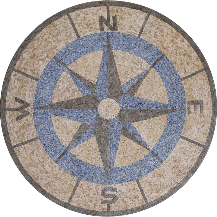 Compass Mosaic Medallion - Jackie